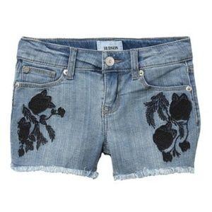 Hudson Big Girls Black Iris Short Shorts NWT